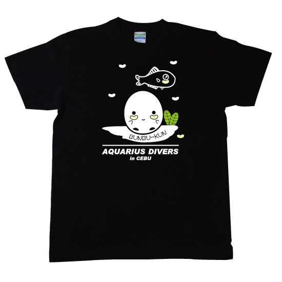ヒカリキンメダイぶんぶくん Tシャツ ブラック