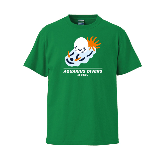ウミウシぶんぶくん Tシャツ グリーン
